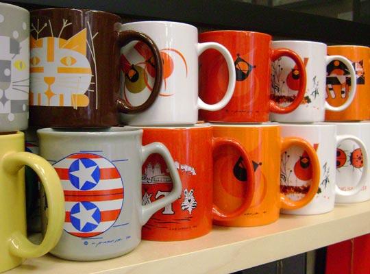 mugs by Edie Harper and Charley Harper