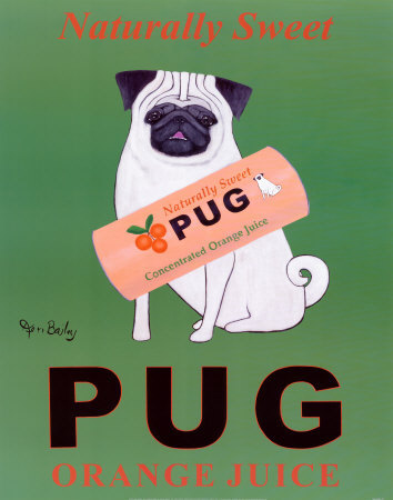 Pug Orange Juice by Ken Bailey