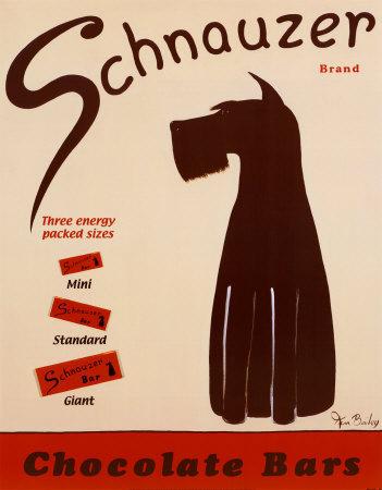 Schnauzer Chocolate Bars by Ken Bailey