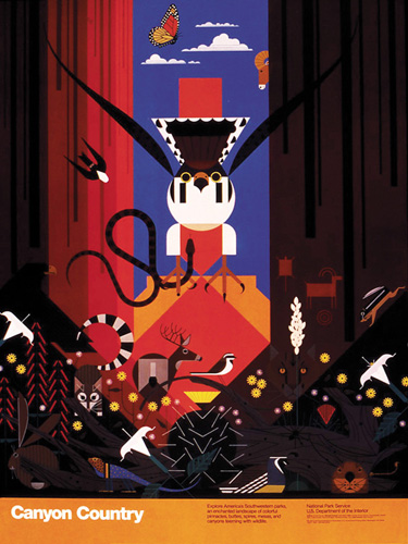 Canyon Country by Charley Harper