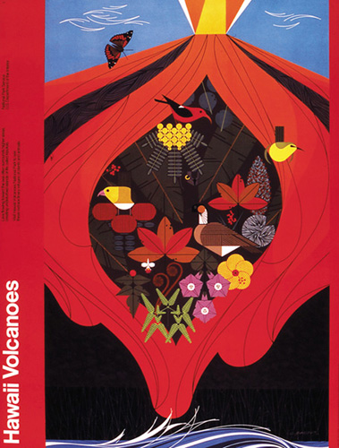 Hawaiian Volcanoes by Charley Harper