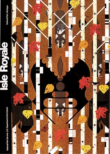 Isle Royale by Charley Harper