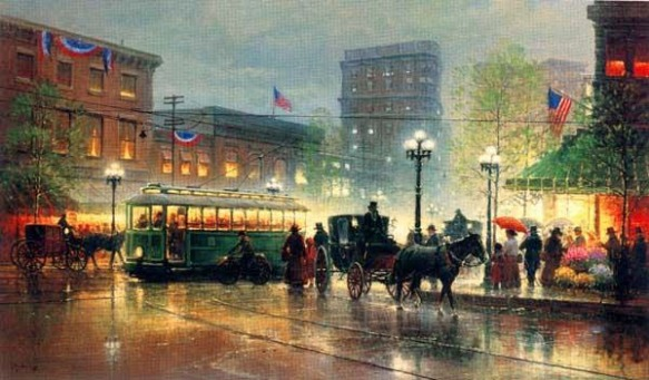 Peachtree Street, Atlanta by G. Harvey