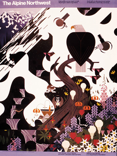 Alpine Northwest by Charley Harper