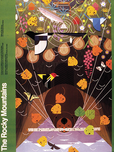 Rocky Mountains by Charley Harper