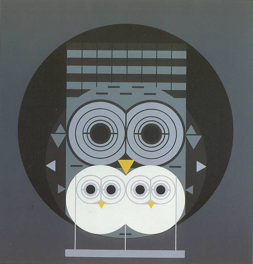 Family Owlbum by Charley Harper