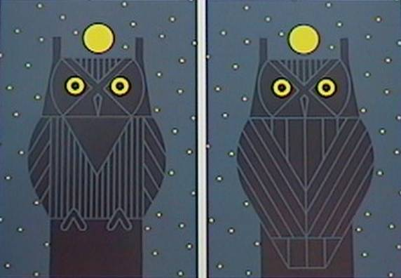 Omniscent Owl by Charley Harper