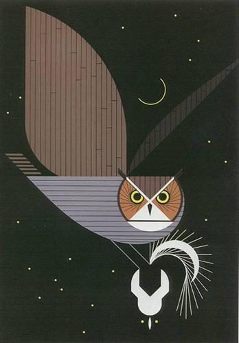 Owl Prints By Charley Harper Fabulous Frames Amp Art Blog