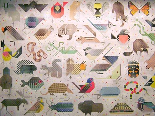 Charley harper mosaic mural fabulous frames art blog for Charley harper mural