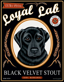 Loyal Lab Black Velvet Stout by Krista Brooks