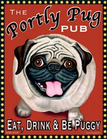 Portly Pug Pub by Krista Brooks