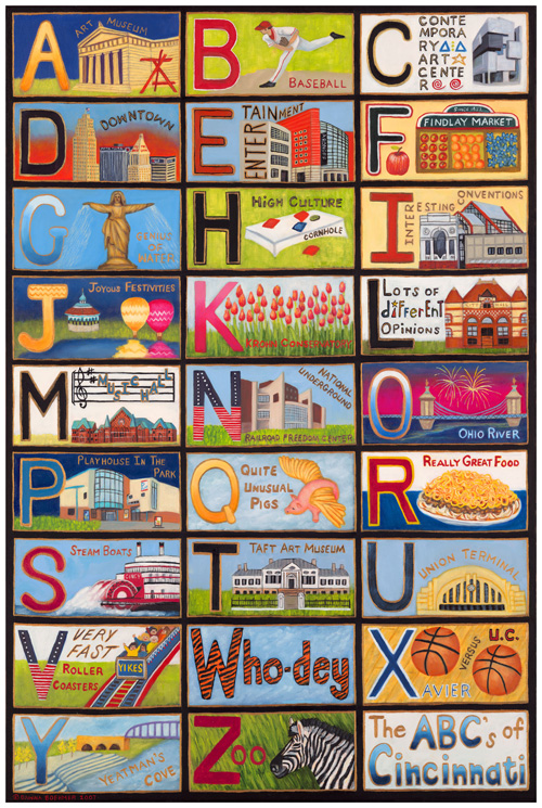 ABCs of Cincinnati by Dawna Boehmer