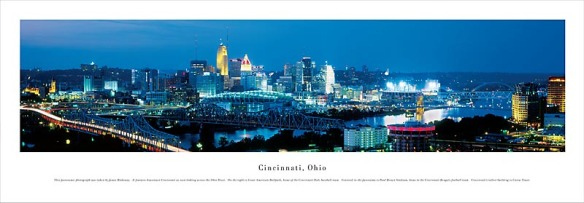 Cincinnati panorama by James Blakeway