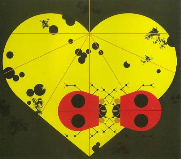 Ladybug Lovers by Charley Harper