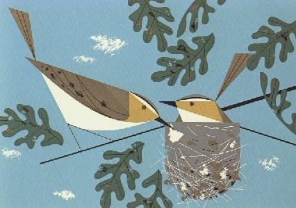 Red-Eyed Vireo by Charley Harper