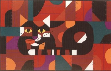 Crazy Cat, Crazy Quilt by Edie Harper