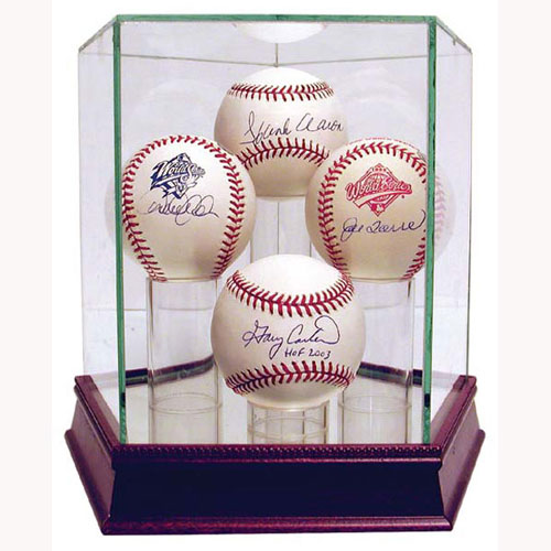 quad baseball display case