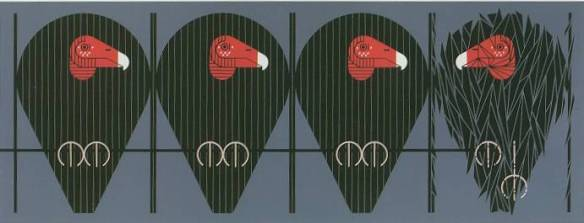 Buzz Off, You Turkey by Charley Harper