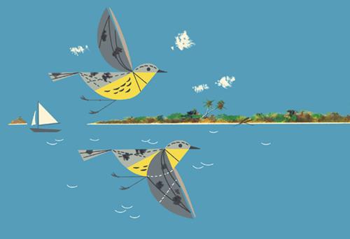 Caribbean Cruisers by Charley Harper