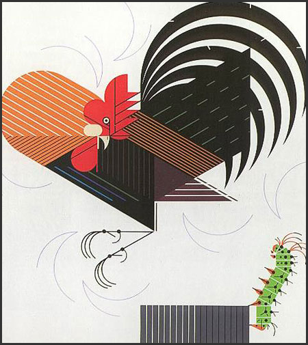 Crawling Tall by Charley Harper