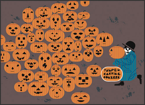 Jack'O'Lantern Time Again by Charley Harper