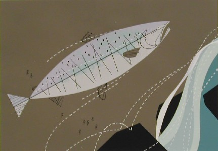 King Salmon by Charley Harper