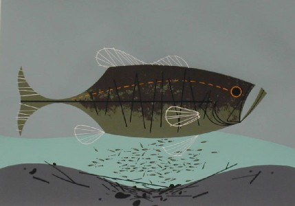 Largemouth Bass by Charley Harper