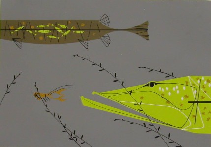 Muskellunge by Charley Harper