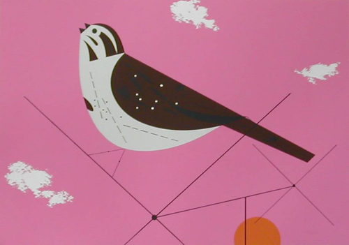 Song Sparrow by Charley Harper