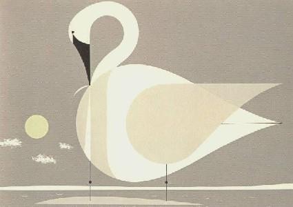 Trumpeter Swan by Charley Harper