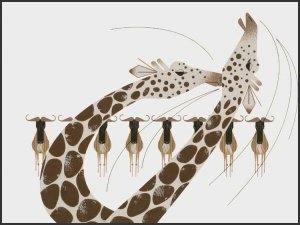 Neck and Neck by Charley Harper