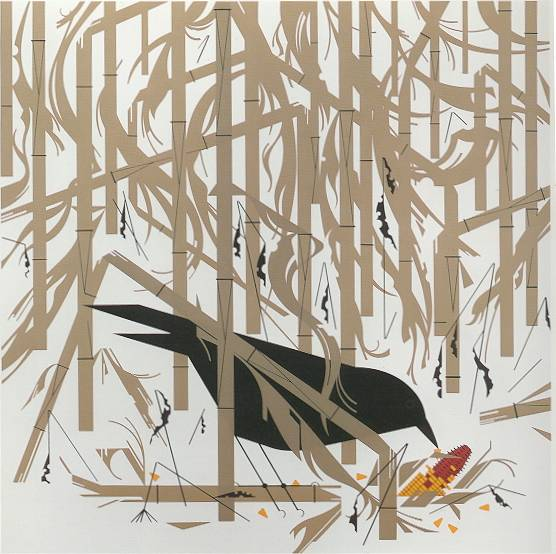 Crow in the Snow by Charley Harper