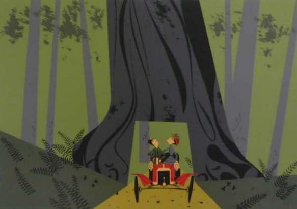 Redwood Drive-Thru by Charley Harper