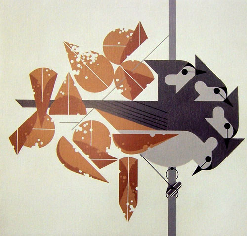 Titmouse Tidbit by Charley Harper