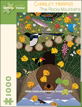 Charley Harper Rocky Mountains jigsaw puzzle