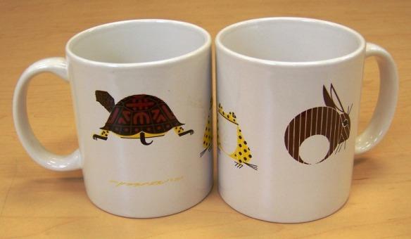Turtle, Frog & Rabbit coffee mug by Charley Harper