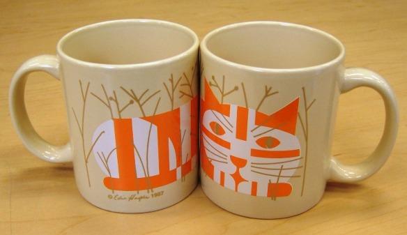 Cat in Autumn coffee mug by Edie Harper