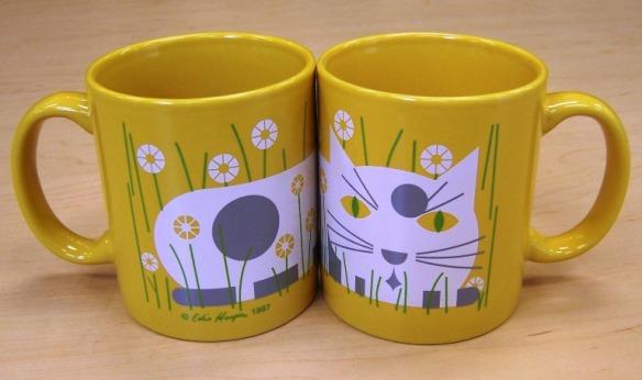 Cat in Spring coffee mug by Edie Harper
