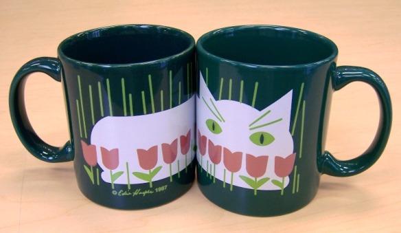 Cat in Summer coffee mug by Edie Harper