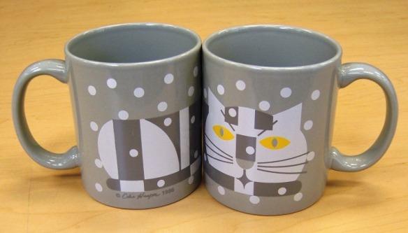 Cat in Winter coffee mug by Edie Harper