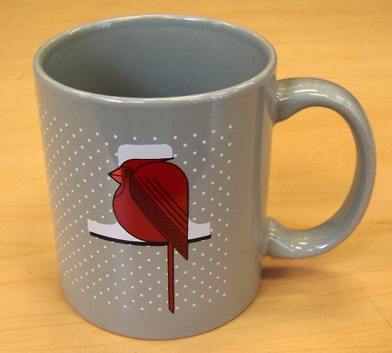 Cool Cardinal coffee mug by Charley Harper