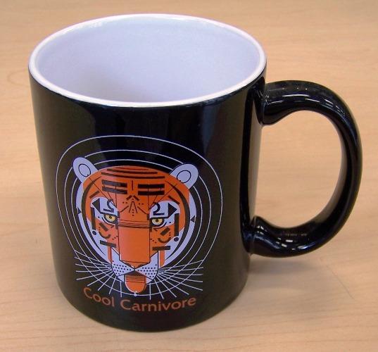 Cool Carnivore coffee mug by Charley Harper