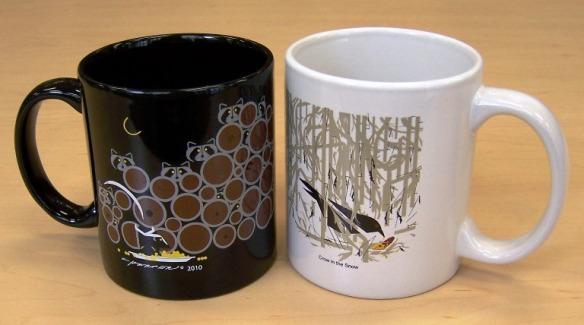 coffee mugs by Charley Harper