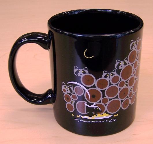 Raccoonnaissance coffee mug by Charley Harper
