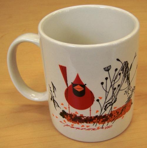 Red and Fed coffee mug by Charley Harper
