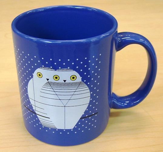Twowls coffee mug by Charley Harper
