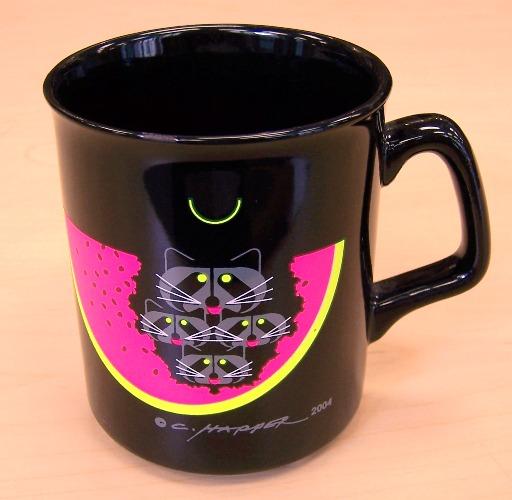 Watermelon Moon coffee mug by Charley Harper