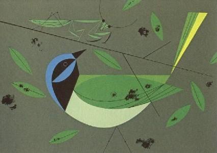Green Jay by Charley Harper