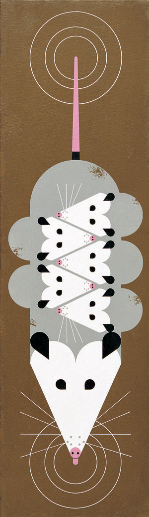 A Passel Of Possums by Charley Harper