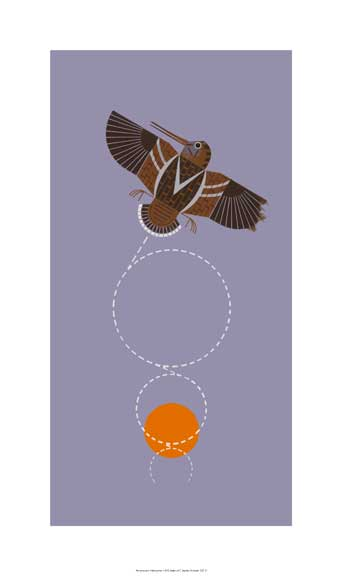 Amorously Airborne by Charley Harper
